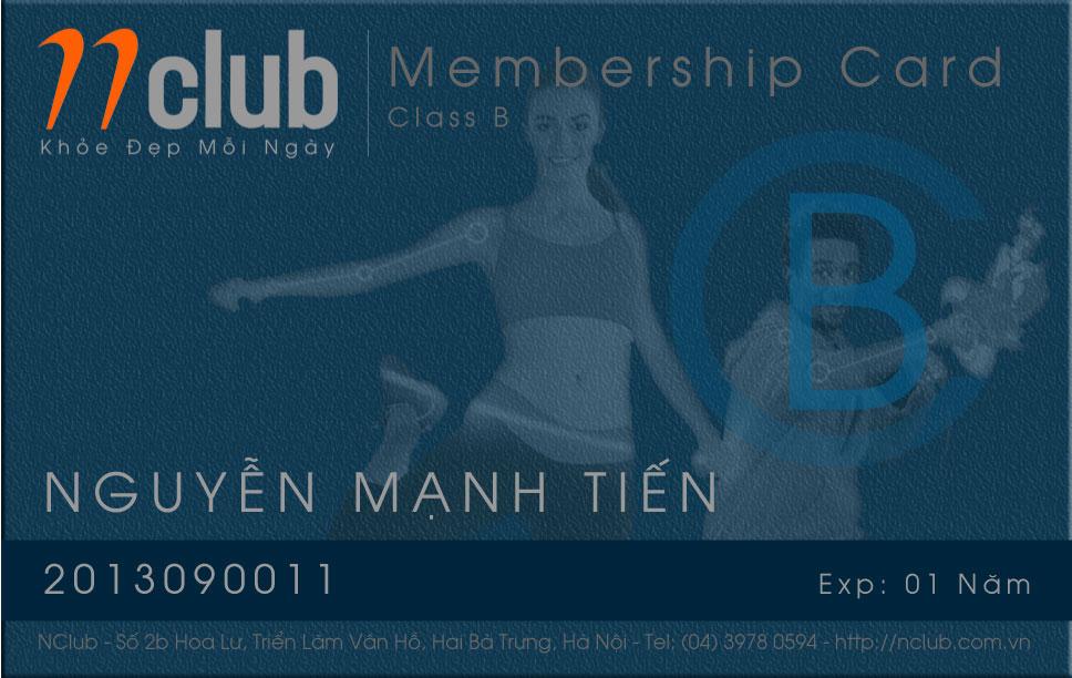 Thẻ hội viên Nclub 1 năm