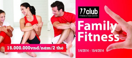 Chương trình ưu đãi dành cho hội viên gia đình – Family Fitness